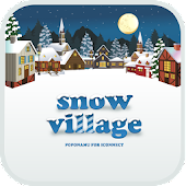 snow village go launcher theme