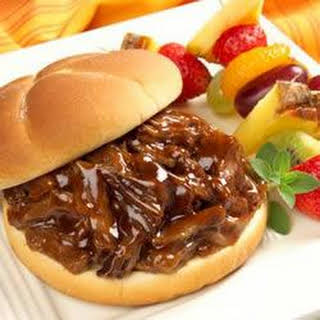 Pulled Barbecue Beef Sandwiches.