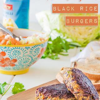 Thai Pumpkin Black Rice Burgers {vegan + gluten free}