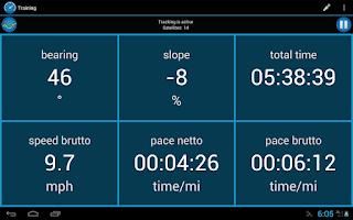 Screenshot of CycleDroid – bike computer