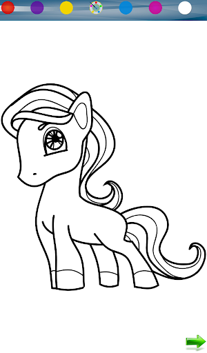 Coloring: Little Pony