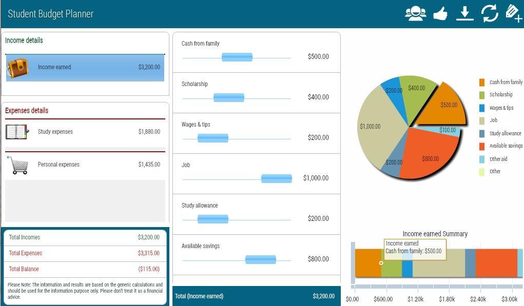 Student Budget Planner - screenshot