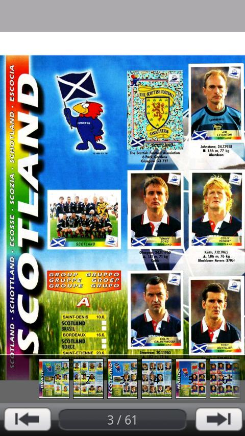 World Cup Players France 1998 - screenshot