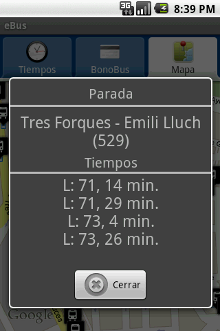 eBus EMT Valencia - screenshot