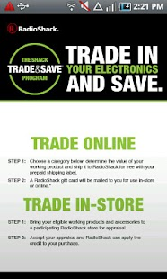 RadioShack Trade & Save - screenshot thumbnail