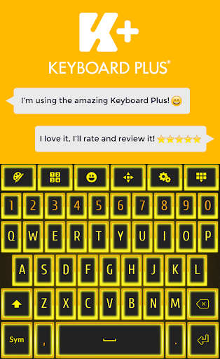 霓虹灯黄金键盘