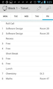 Timetable - School Scheduler- screenshot thumbnail