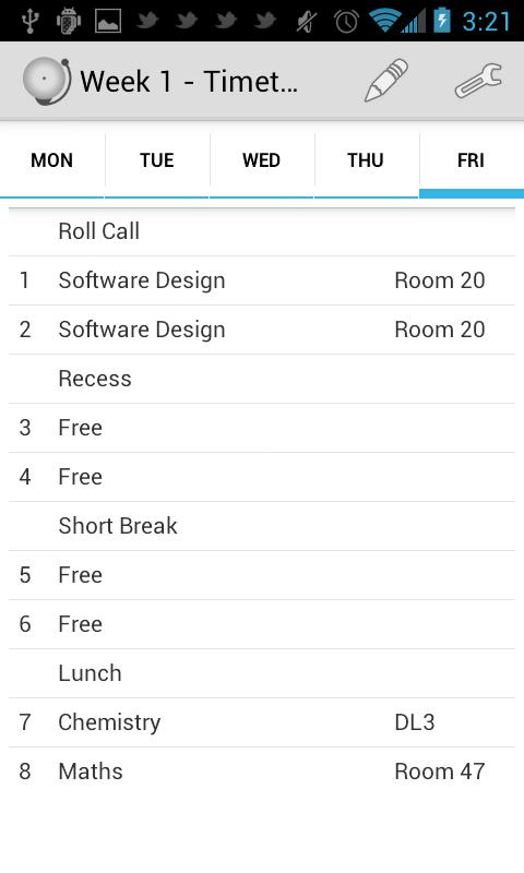 Timetable - School Scheduler- screenshot