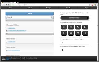 Screenshot of Remote Phone