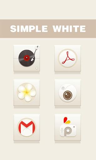 Simple White GO Launcher Theme