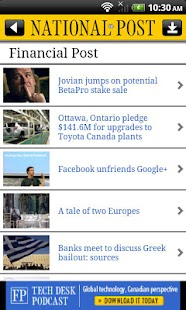 National Post Mobile - screenshot thumbnail