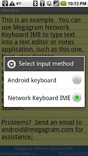 Network Keyboard IME - screenshot thumbnail