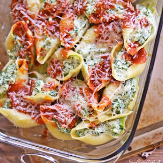 Healthy Stuffed Shells Recipe #PastaFits #MC #Sponsored
