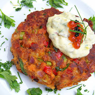 Pan-Fried Salmon Cakes, Sauce Remoulade.