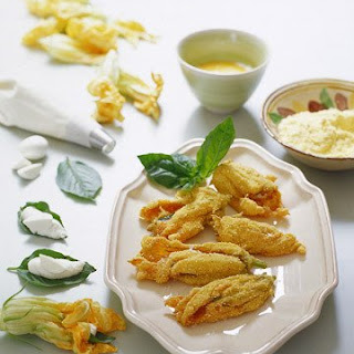 Basil-Stuffed Squash Blossoms.