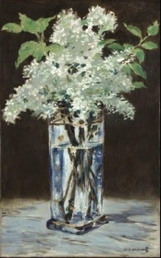 White Lilacs In A Crystal Vase Lilas Blancs Dans Un Vase