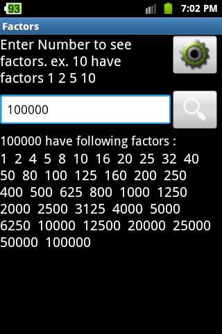 Factors Calculator