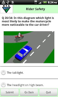 RTA Bike Driver Knowledge Test - screenshot thumbnail