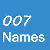 007Names