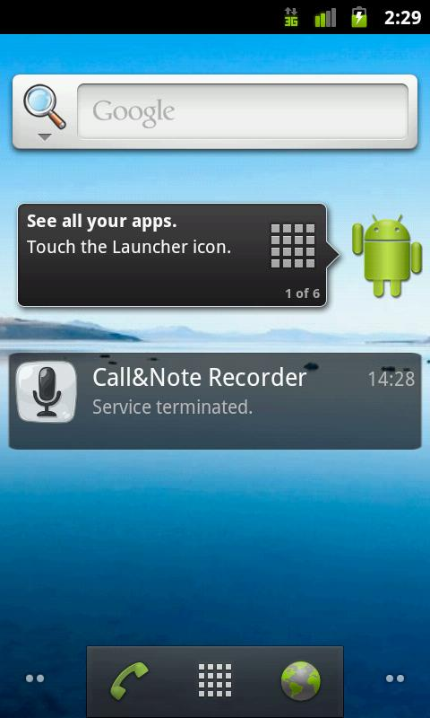 Call&Note Recorder Mailer PRO- screenshot