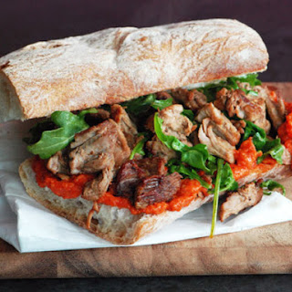 Pork Sandwich with Romesco Sauce