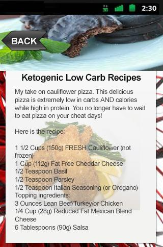 Ketogenic Low Carb Recipes