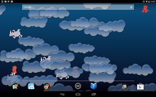 Screenshot of Clouds live wallpaper lite