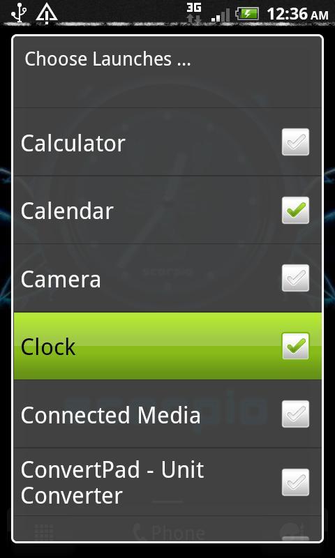SCORPIO - Neon Blue Clock - screenshot