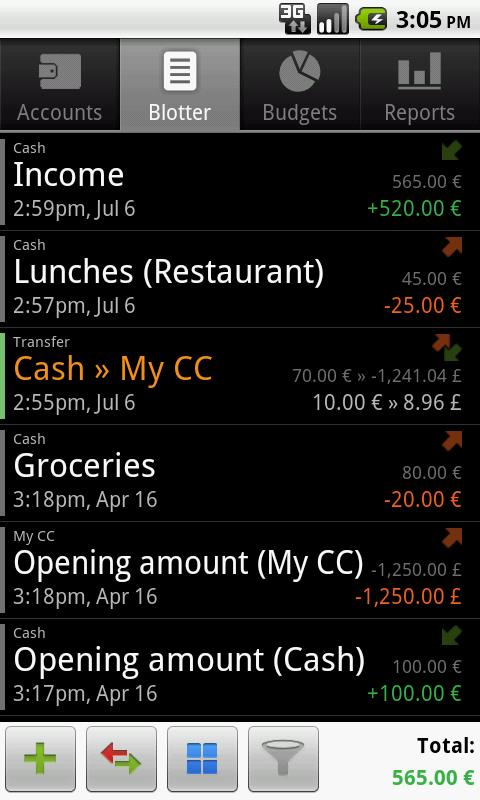 Financisto - Expense Manager - screenshot