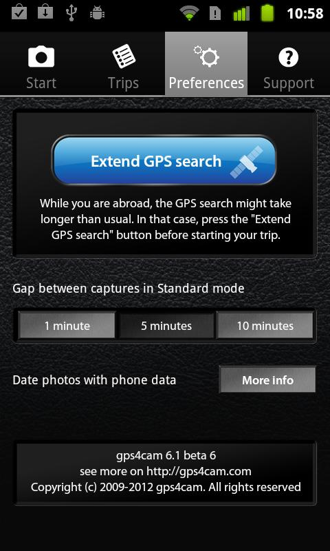 gps4cam- screenshot