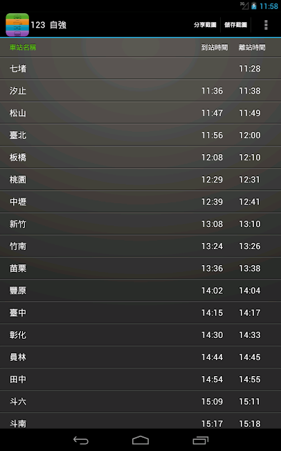 #16. 雙鐵時刻表(台鐵高鐵、航班、搶票、公車單車、轉乘、捷運) (Android)