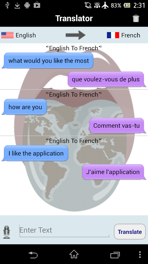 Translator With Speech - screenshot