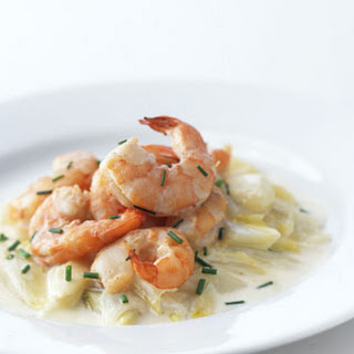 Braised Shrimp and Creamy Endive