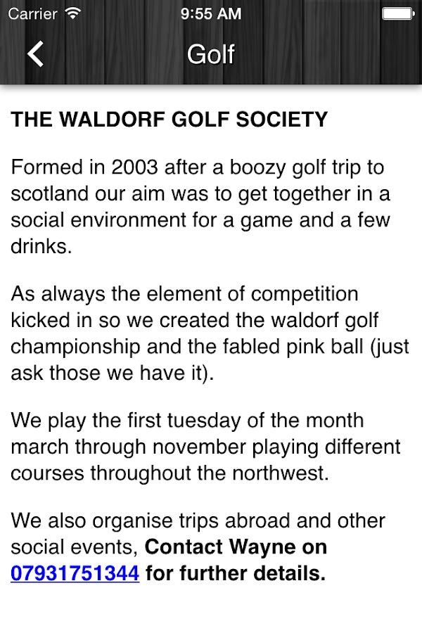 The Waldorf Pub- screenshot
