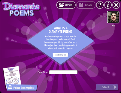 Diamante Poems- screenshot thumbnail