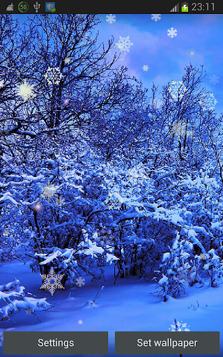 Snowing Places HD LWP