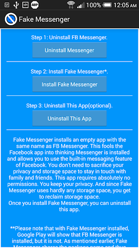 Fake Messenger for Facebook screenshot 1