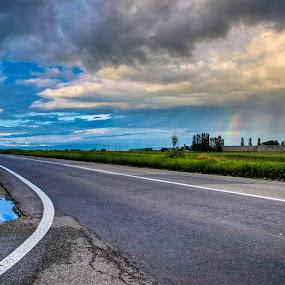 Rainbow street by Dorin Crisan - City,  Street & Park  Street Scenes (  )