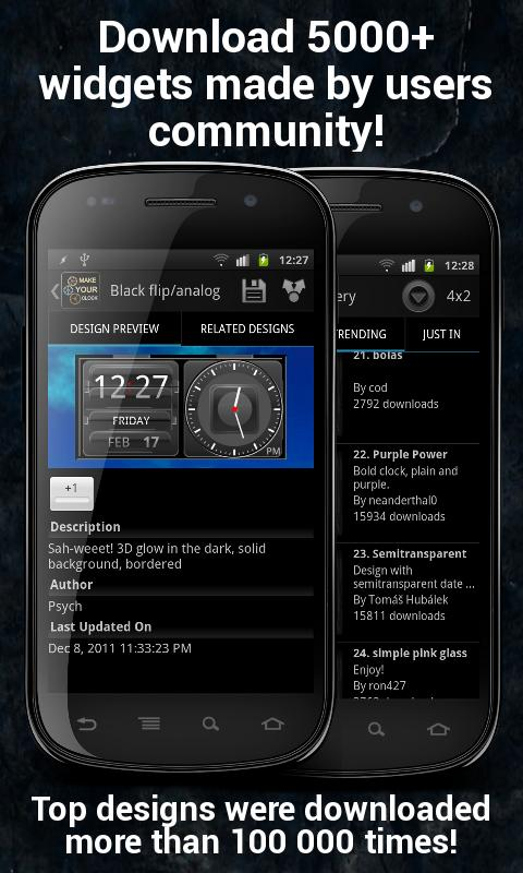 Make Your Clock Widget Pro- screenshot