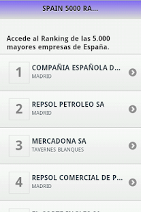 Spain Business Ranking 5000 - screenshot thumbnail
