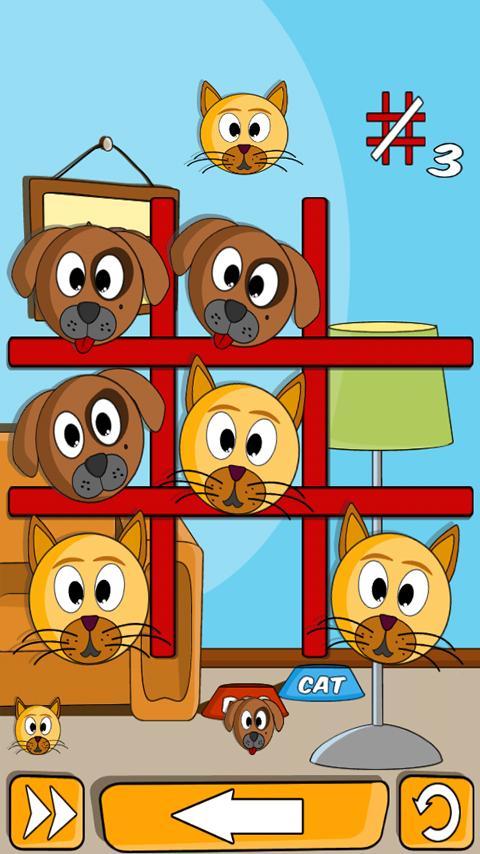 Cat Dog in Row- screenshot