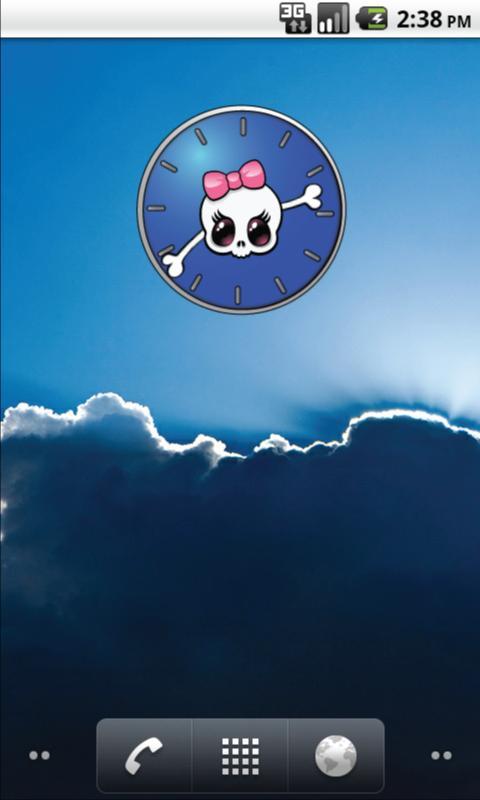 Girly Skull Clocks - FREE- screenshot