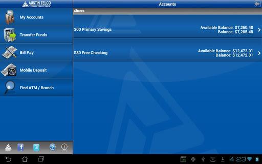 Austin Telco FCU Mobile Tablet