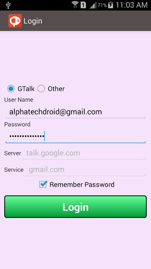 Chat for Google Talk And Xmpp - screenshot