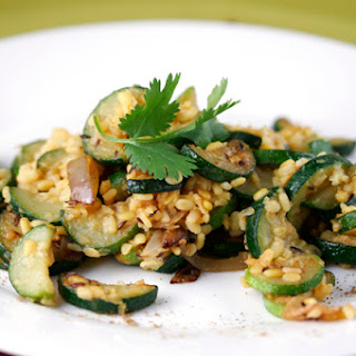 Zucchini with Lentils and Roasted Garlic.