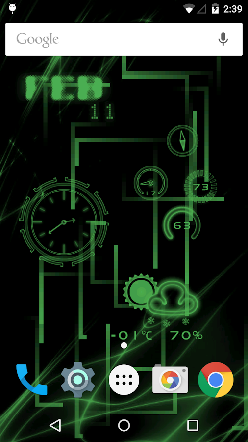 NeonClock legacy Livewallpaper - screenshot