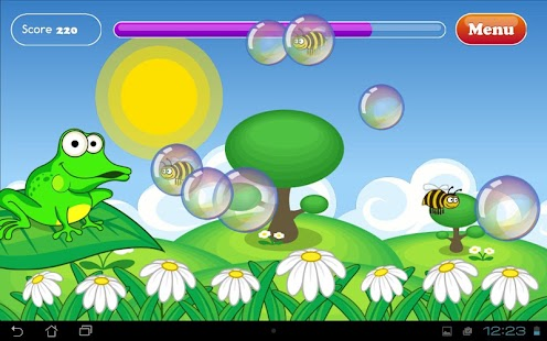 Bubbles frog and bees for kids- screenshot thumbnail