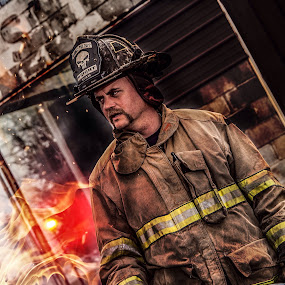 by Melanie Ayers Wells-Photography - People Portraits of Men ( firefighter, firefighters )