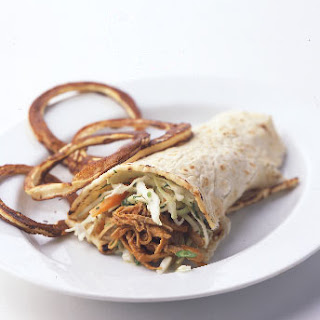 Shredded Pork Wraps with Lemon Coleslaw.