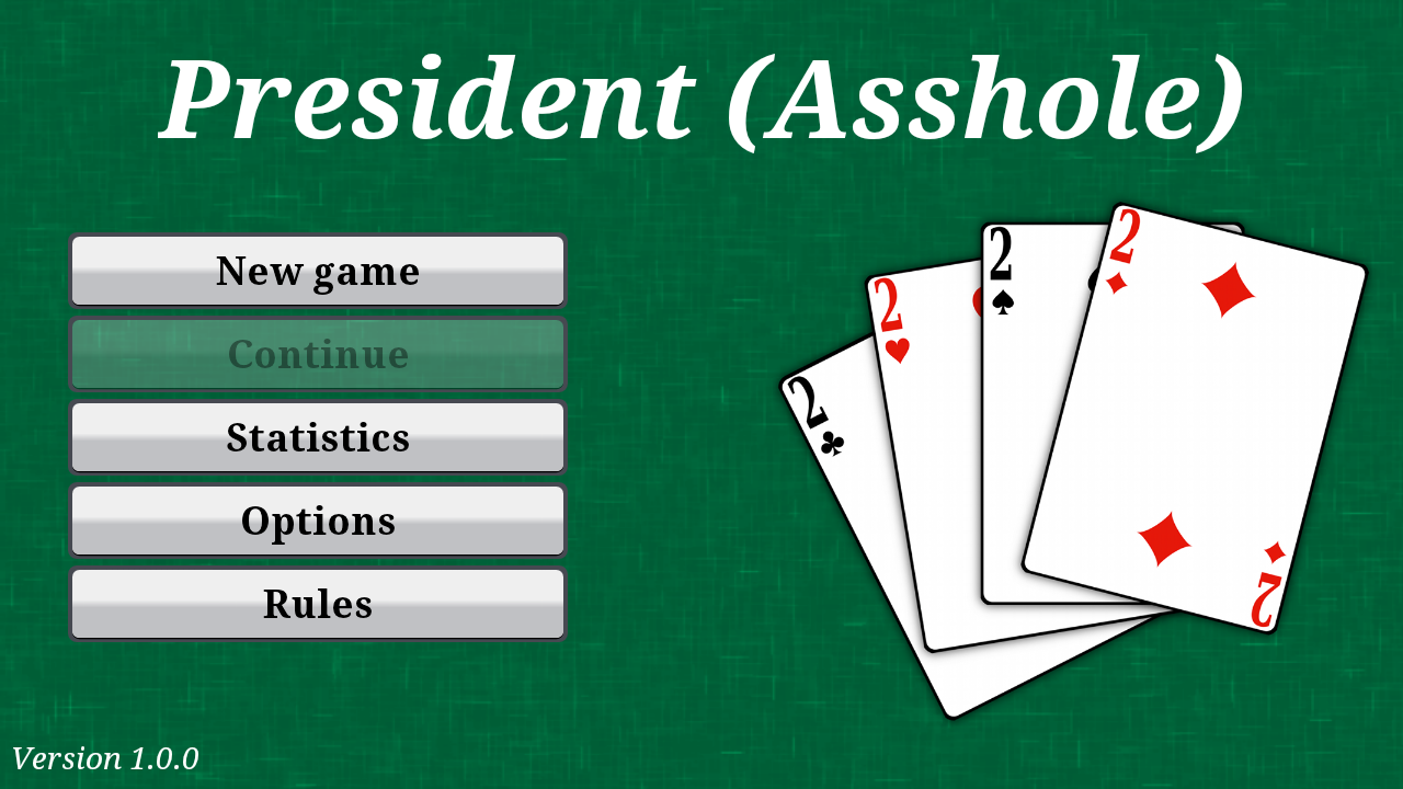 president cards game online